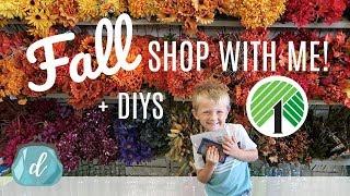 DOLLAR TREE FALL SHOP WITH ME! 💚🍂 Decor, Farmhouse DIYs, New Finds, Halloween & more! (2017)