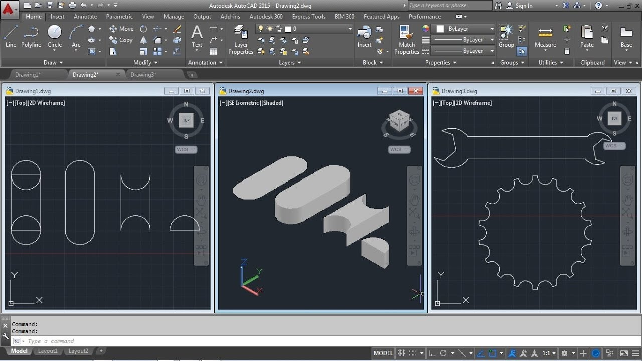 AutoCAD Region Command Tutorial Complete | Union, Mass Properties,  Substract, Intersect, Extrude