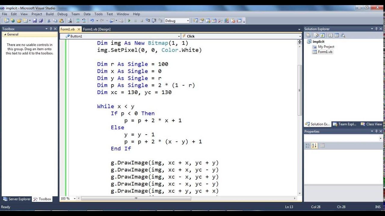 Line Drawing Algorithm Vhdl : Midpoint bresenham circle algorithm youtube