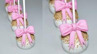 Cake decorating tutorials | how to make GLITTER CAKE POPS | Sugarella Sweets