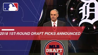 Announcing the first 30 Picks of 2018 MLB Draft