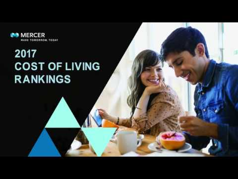 Mercer 2017 Cost of Living City Rankings