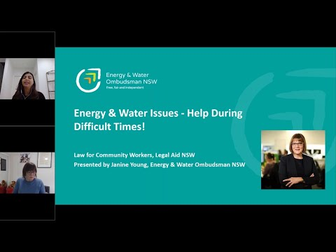 Energy & Water issues - help during difficult times!