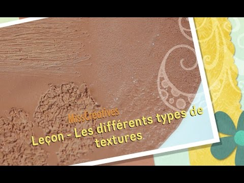 le on les diff rents types de textures youtube. Black Bedroom Furniture Sets. Home Design Ideas