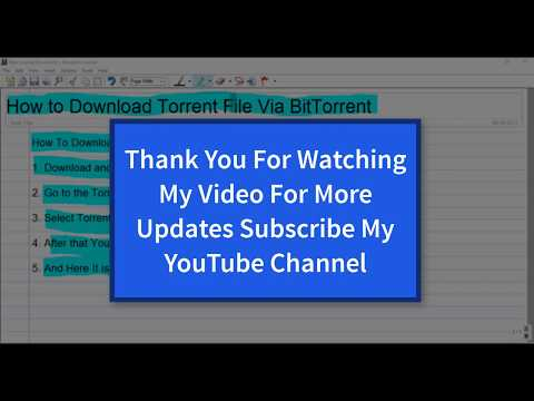 How to donload torrent file with BitTorrent software Easily
