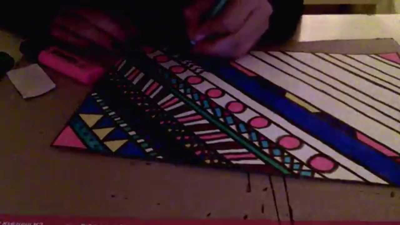 How to: draw aztec pat...