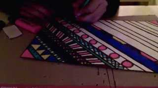 How to: draw aztec patterns