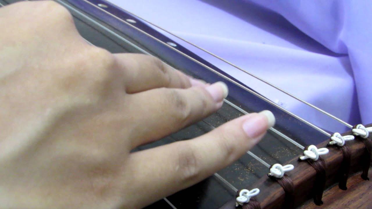 古琴散音練習:滄海一聲笑 - YouTube