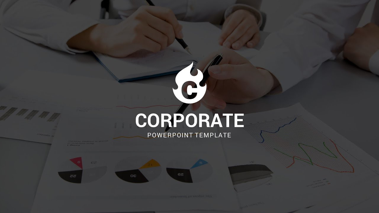 corporate powerpoint template - youtube, Modern powerpoint