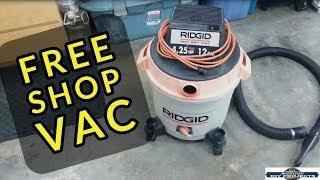 Ridgid Shop Vac repair = How to Free Wet Dry Shop Vac