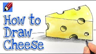 How to Draw a Piece of Cheese Real Easy   Step by Step