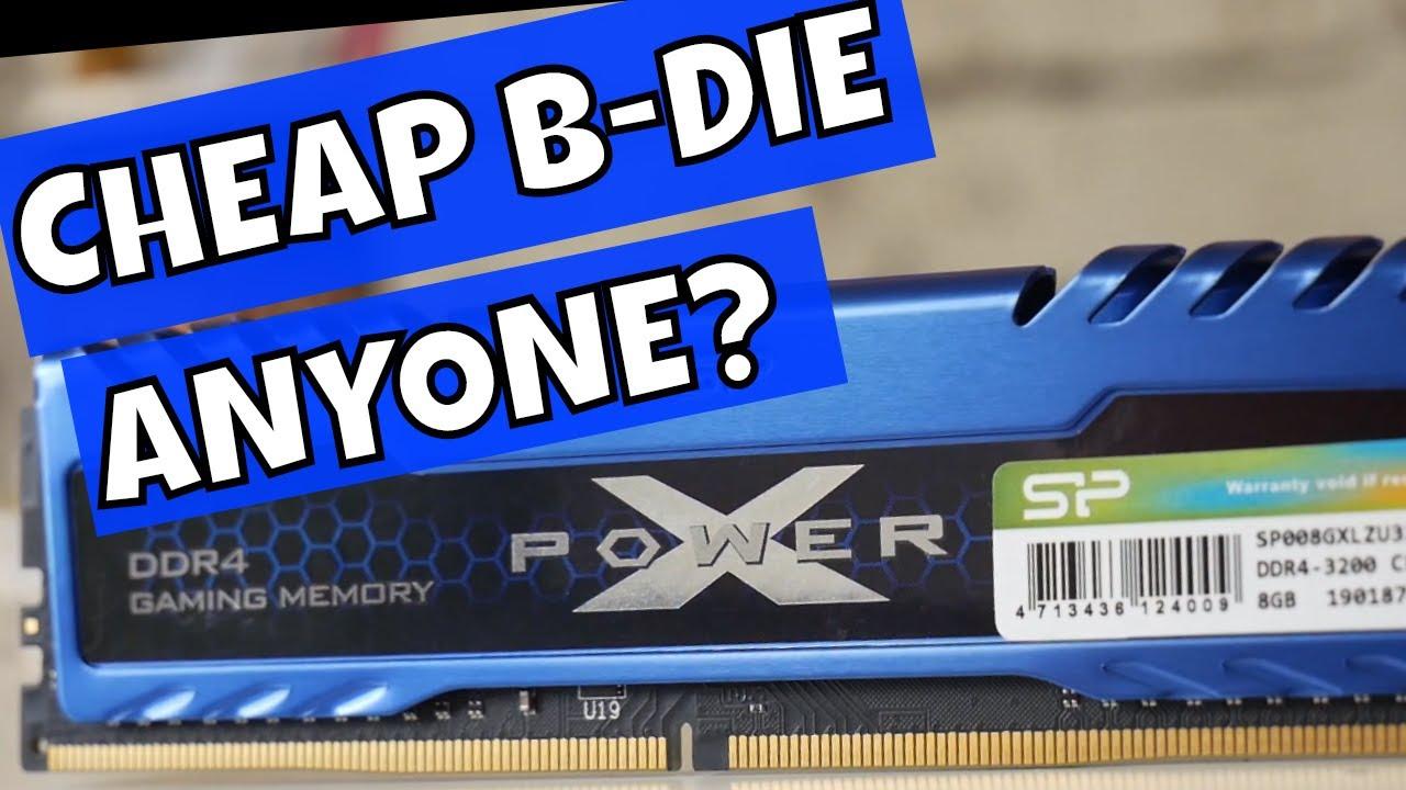 Cheap Samsung B Die Silicon Power X Power Turbine DDR4 3200 Kits