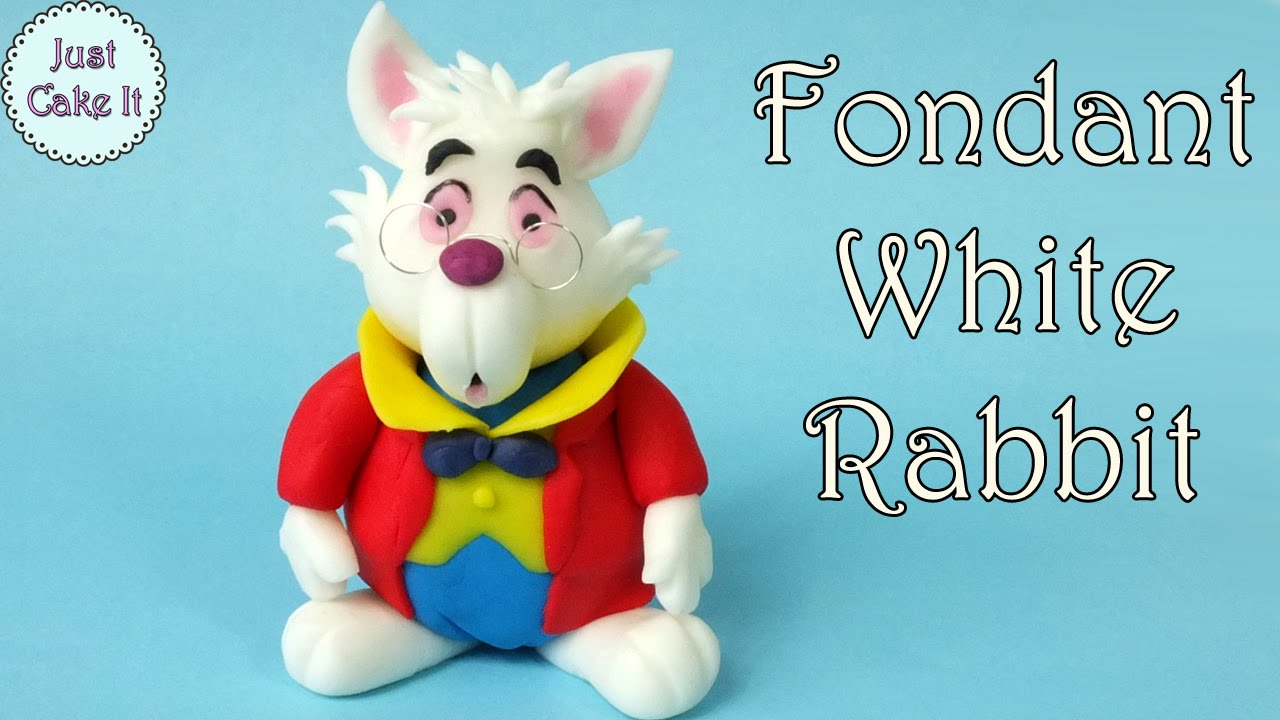 How To Make Fondant White Rabbit From Alice In Wonderland Youtube