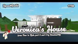ROBLOX │Bloxburg - [SpeedBuild] Veronica's House (Poor to Rich Short Film)