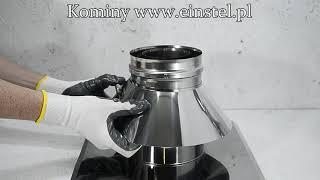 Przykładowy montaż elementów powietrzno spalinowych do kotła kondensacyjnego oraz turbo