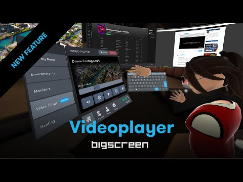 [NEW FEATURE] VR Videoplayer - Watch your video files with friends in virtual reality!