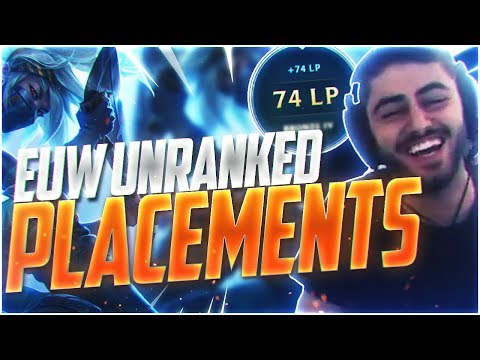 Yassuo | EUW UNRANKED TO CHALLENGER BEGINS!!! PLACEMENTS!