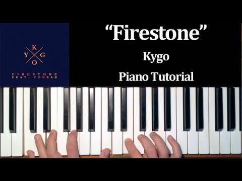 Kygo ft. Conrad - Firestone (How To Play Piano Tutorial)
