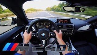 BMW M240i AUTOBAHN POV Test Drive ACCELERATION & TOP SPEED