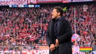 Diego Simeone funny and aggresive moments vs Bayern UCL