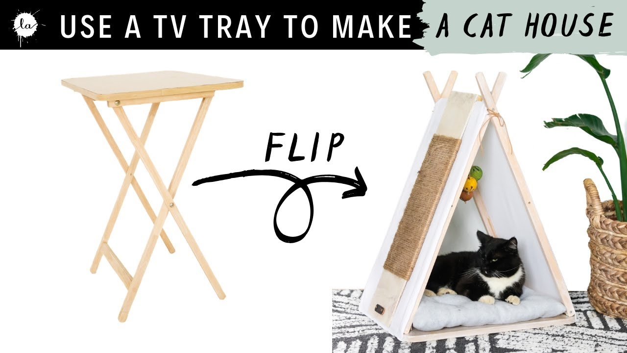 Download DIY Cat / Dog House Tepee | Tv Tray Transformation! | Thrift Flip