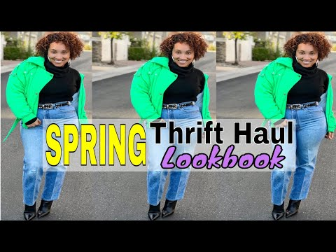TRY ON $50 Spring Thrift Haul Lookbook | Levis, Shoes & Accesories! + Special Announcement!