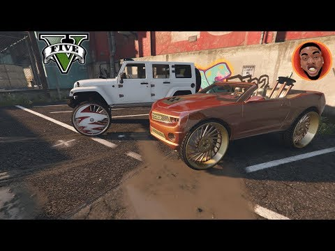 Buying CJ So Cool Jeep and Camaro (Tank) on 32's! GTA 5 Real Street Life Day 45