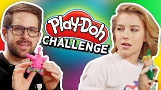 CARTOON PLAY DOH CHALLENGE (Squad Vlogs)