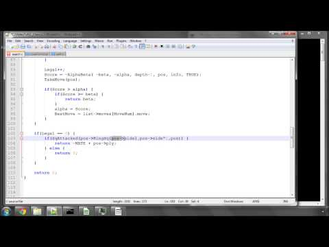 Programming A Chess Engine In C Part 59 - Writing The Alpha Beta Function