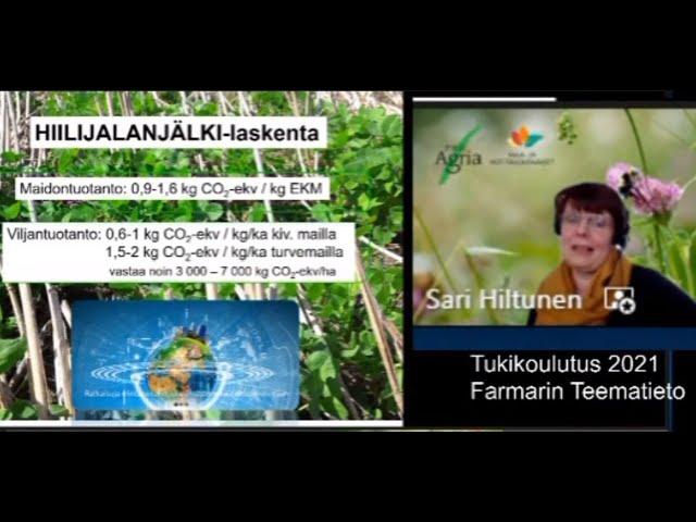Farmarin Teematieto tukikoulutus Neuvo järjestelmä Sari Hiltunen