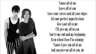 """All Of Me"" - John Legend (Max & Zendaya) lyrics"