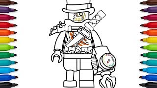 How to draw Lego Iron Baron from Lego Ninjago: Masters of Spinjitzu