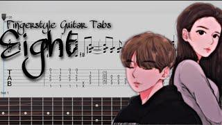 아이유 IU - 에잇 Eight (Fingerstyle Guitar Tabs)