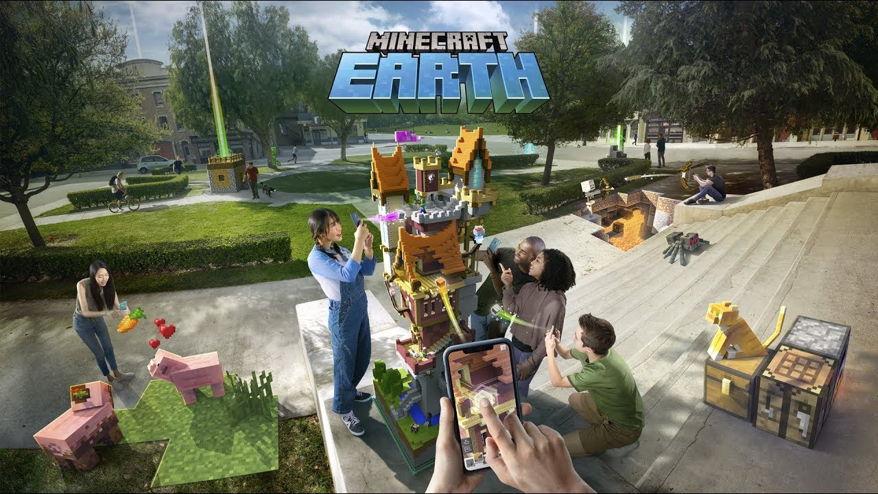 Minecraft Earth Official Reveal Trailer (2019) YouTube