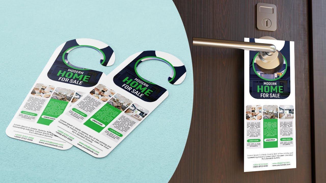 Real Estate Door Hanger Design | Photoshop Tutorials