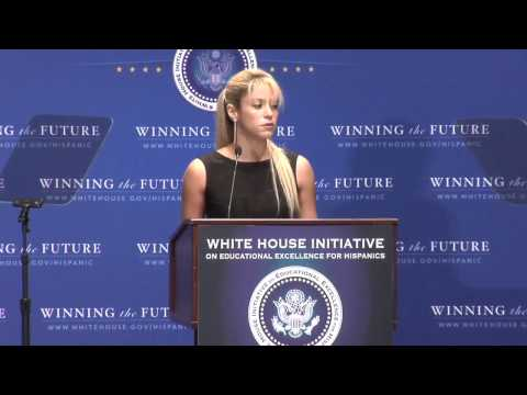 Shakira's Speech at the swearing-in Ceremony for the White House Initiative on Ed. Exc for Hispanics