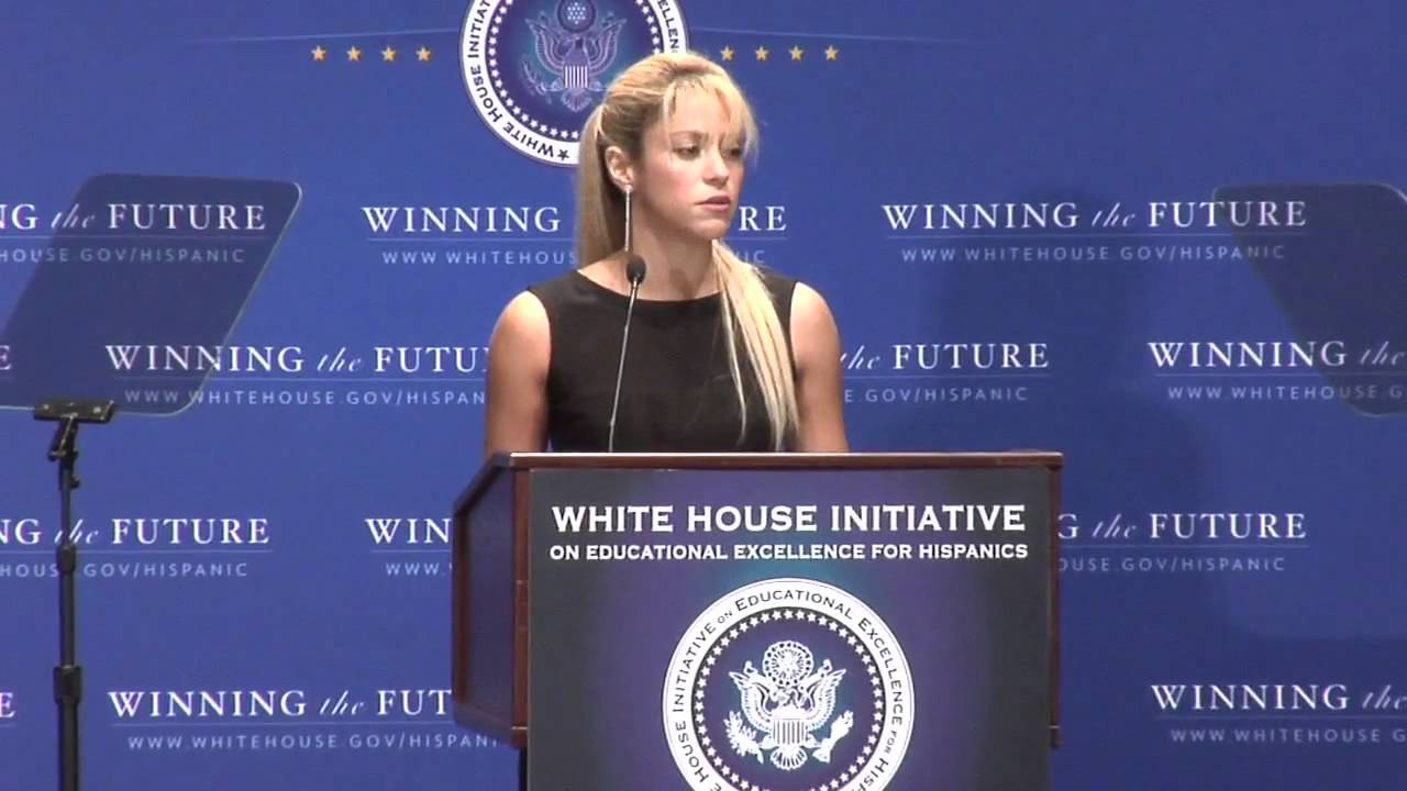 Shakira's Speech at the swearing-in Ceremony for the White House Initiative on Ed. Exc for Hisp