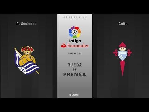 Rueda de prensa R. Sociedad vs Celta