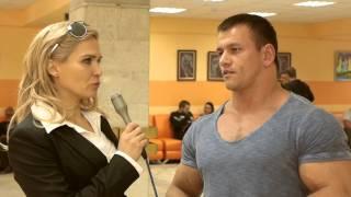Валя Забияка  и Евгений Клочков на Кубке МО по фитнес-бикини 2013.