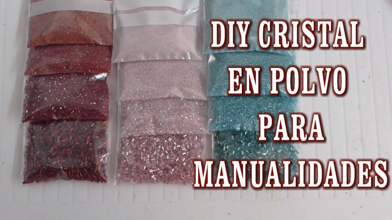 Diy como hacer cristal en polvo para manualidades youtube - Como hacer plastico liquido ...