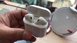 Khui hộp tai nghe Apple AirPods 2 và thử sạc không dây qua Galaxy S10