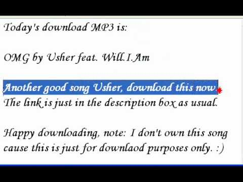 Download OMG by Usher feat. Will.I.Am.