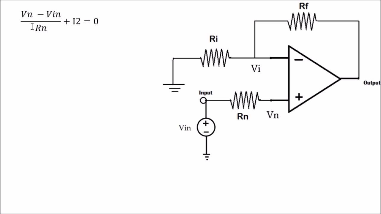 Circuito Operacional : Análisis de amplificadores operacionales youtube