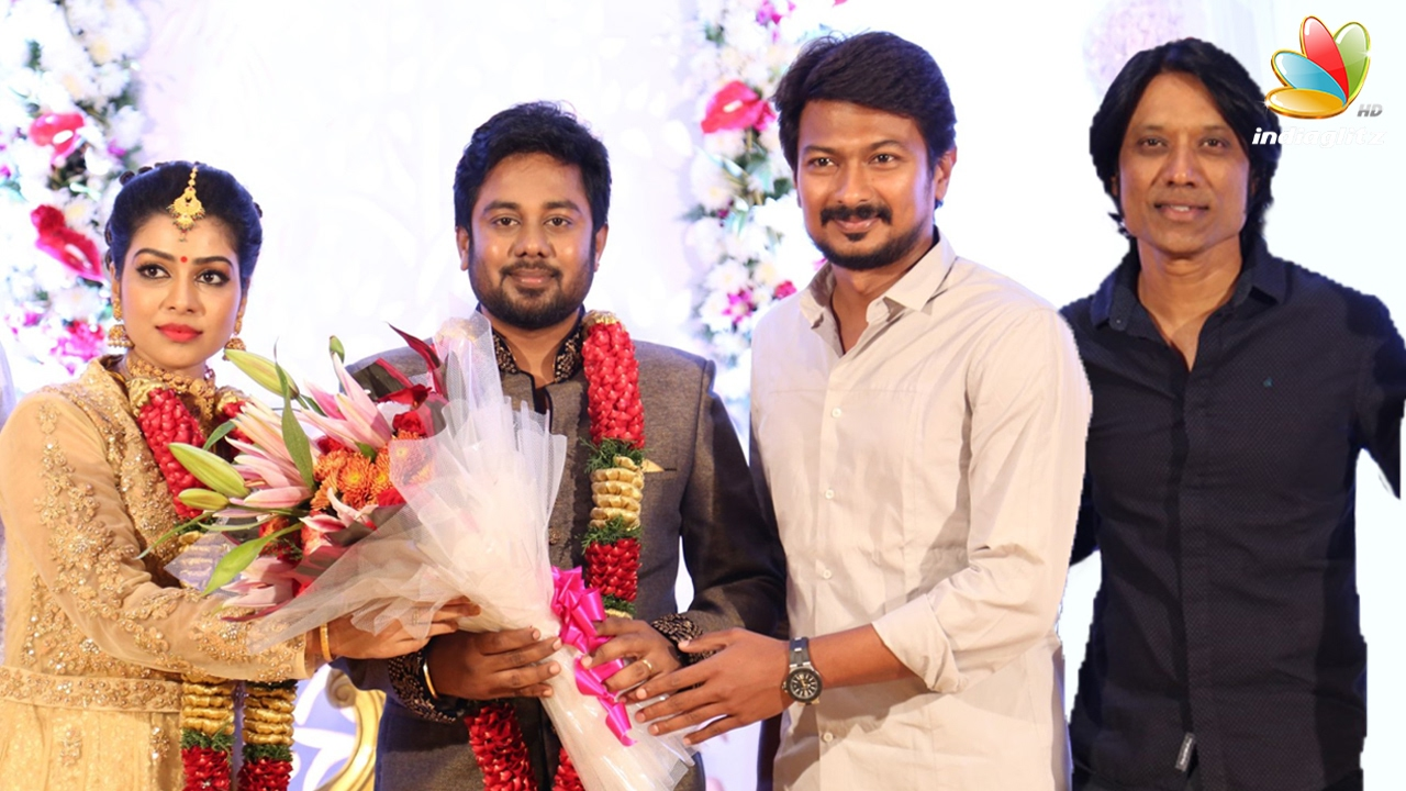 Sj Surya Udhayanidhi Stalin At Pichaikkaran Actress Satna Us Wedding Reception You