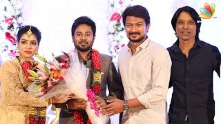 SJ Surya, Udhayanidhi Stalin at Pichaikkaran actress Satna Titus Wedding Reception