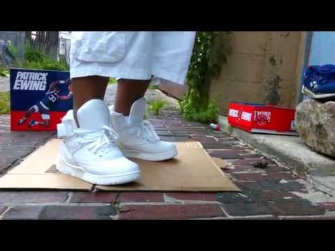 Ewing 33 Hi Triple White All White On Feet