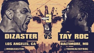 TAY ROC VS DIZASTER SMACK/ URL RAP BATTLE
