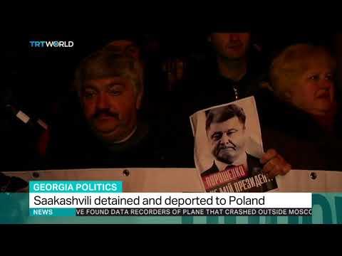 Georgia's Saakashvili detained and deported to Poland