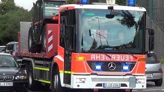 Einsatzfahrten zum Großbrand in Düsseldorf am 30.06.2014