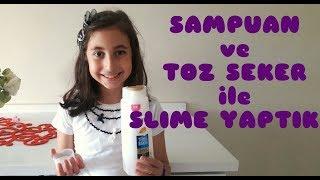 Clear Slime : Şampuan ve Toz Şeker ile Çok Kolay Slime Yaptık